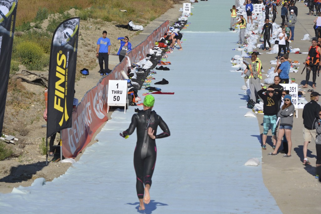 Emily Cocks was the first pro female out of the water