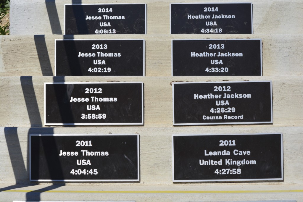 "The most recent winners showcased on the ""Stairway of Champions"""