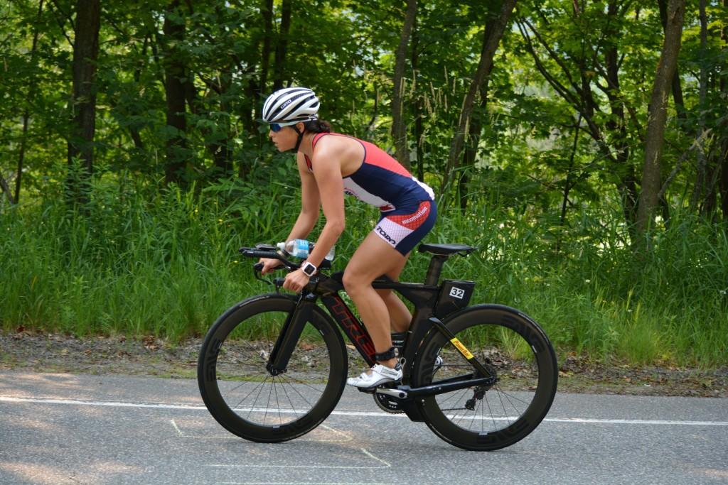 Jennifer Lentzke approaches the end of her ride