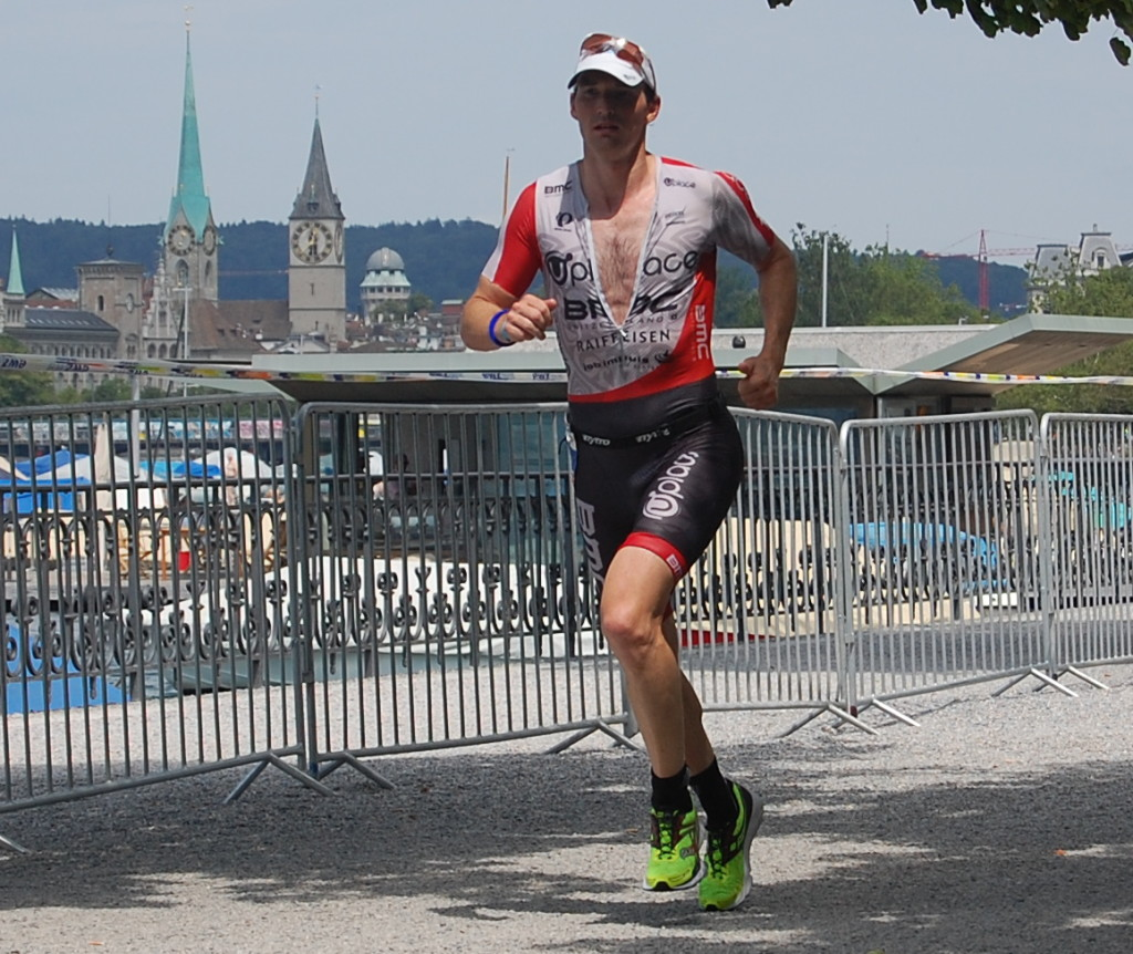 Ronnie looking strong on his way to win #8 at Ironman Switzerland. Photo by Always Curious.