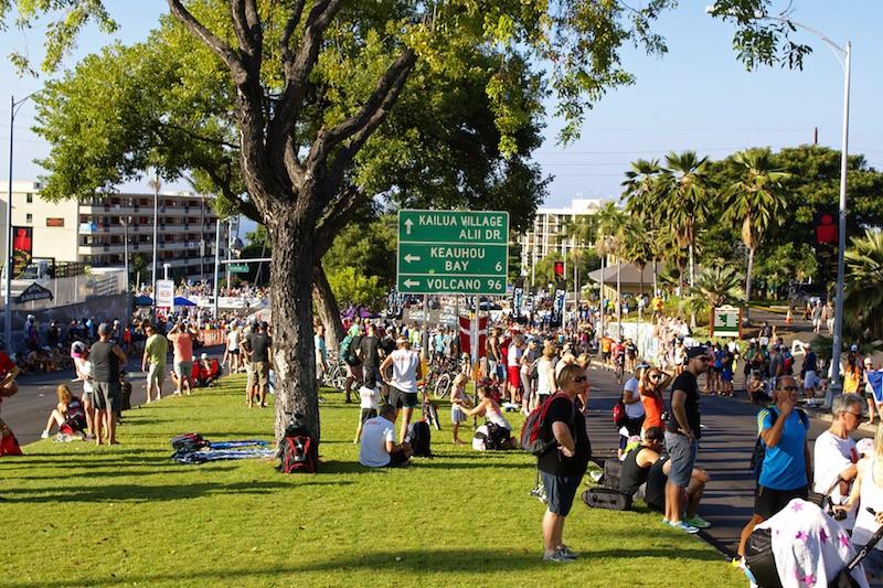 Ironman Kona 2015 - Palani crowds