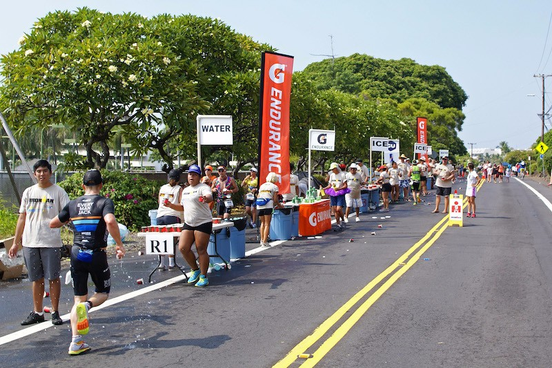 Ironman Kona 2015 - Mile 9 aid station