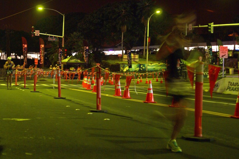 Ironman Kona 2015 - hot corner at night