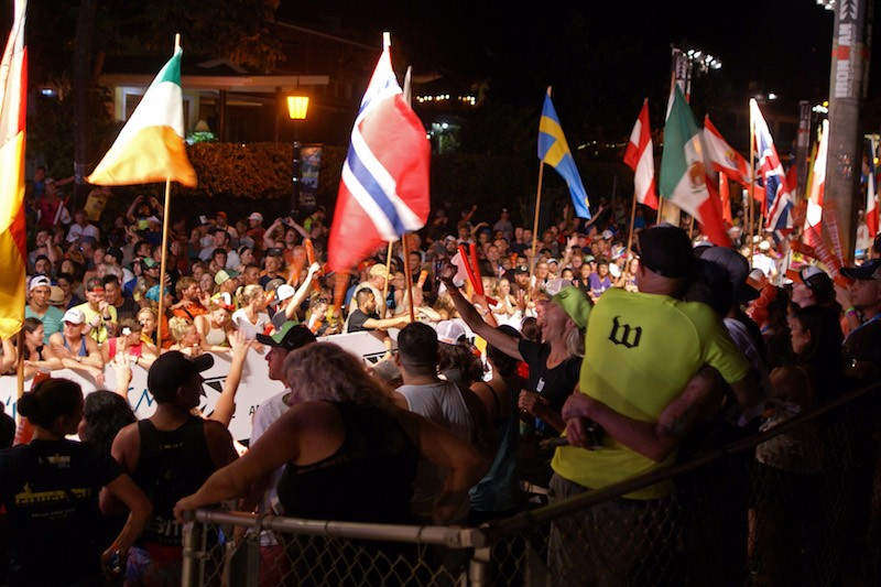 Ironman Kona 2015 - finish line at night