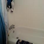 The spandex drying rack, AKA the bathtub.