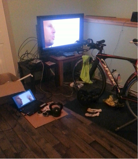 Mini pain cave - only part of the tri storage facility.