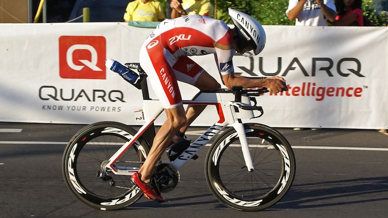 Jan Frodeno on the bike at Kona