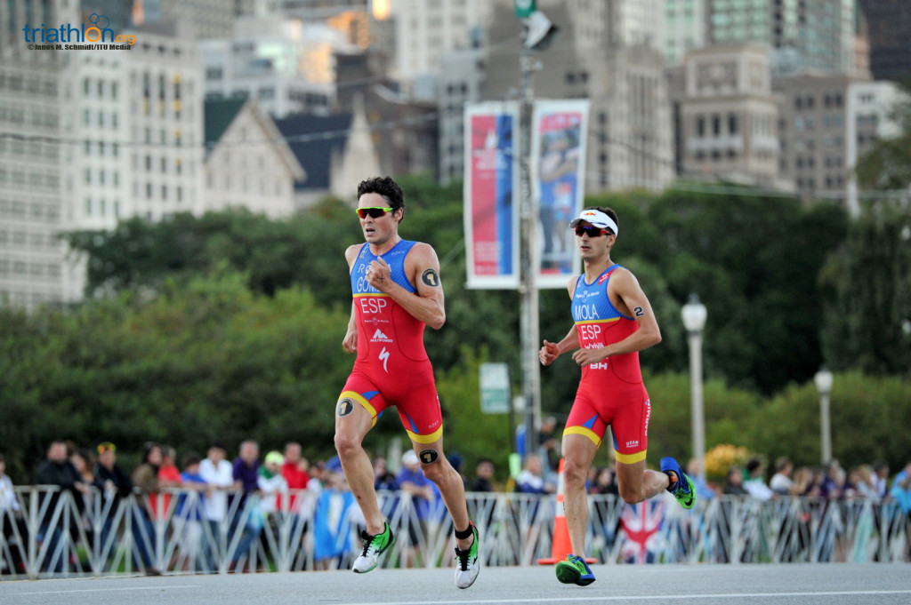 Javier Gomez and Mario Mola at WTS Chicago 2016