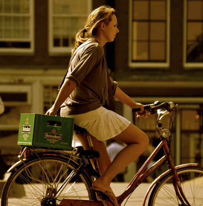 Biking with Heinekens